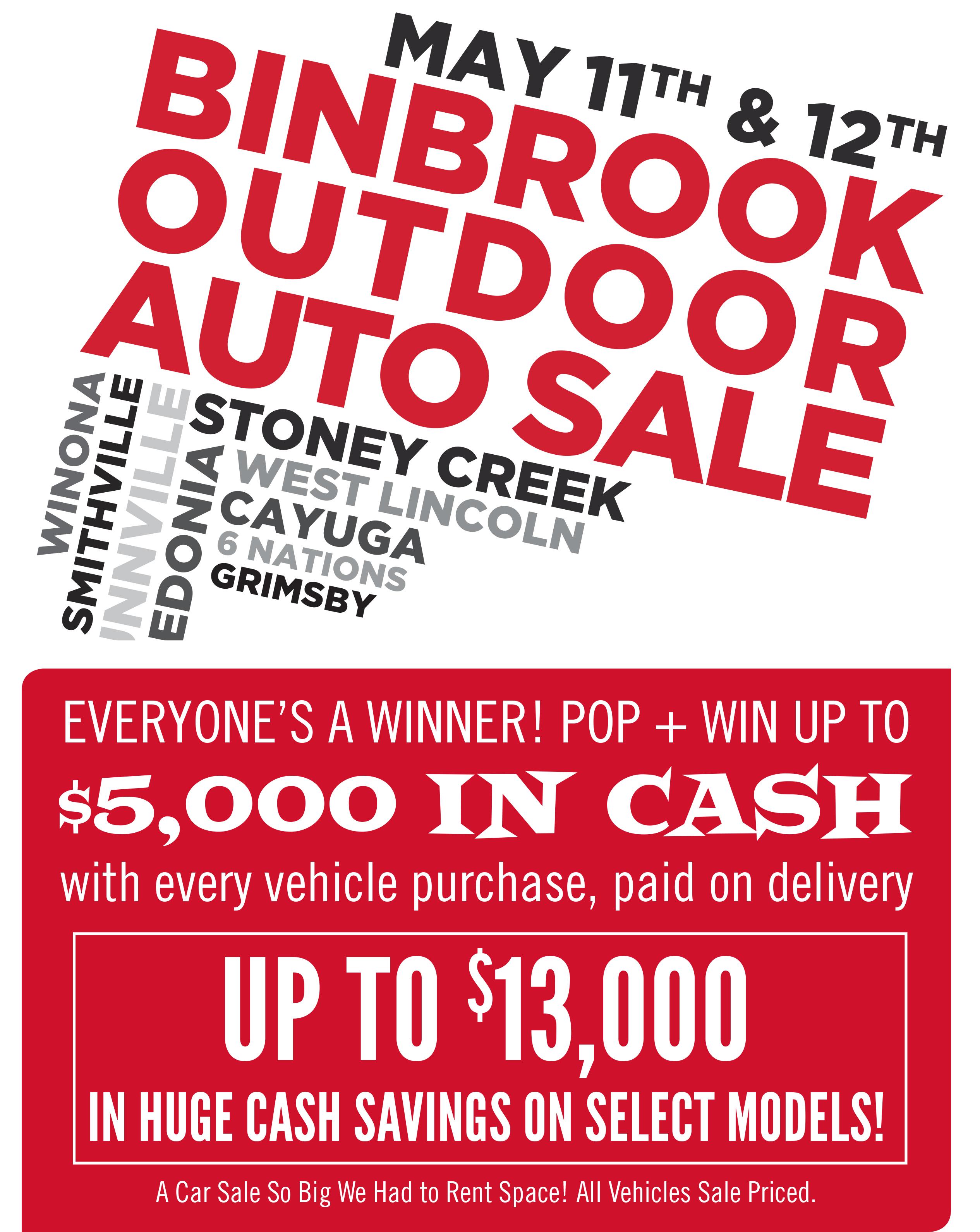 Binbrook Outdoor Auto Sale